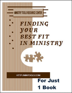 Finding Your Best Fit in Ministry Book