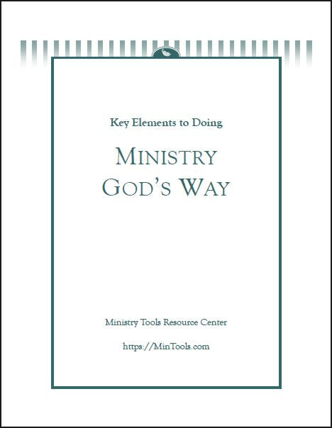 Ministry God's Way Discipleship Tool