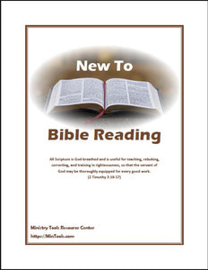 New to Bible Reading Discipleship Tool Download