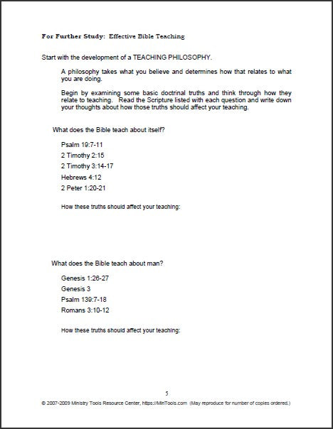 Teaching Ministry Manual Download to Print One