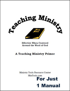 Teaching Ministry Manual