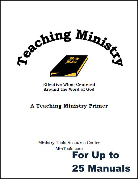 Teaching Ministry Manual for New & Prospective Bible Teachers