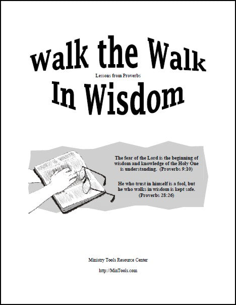 Walk the Walk in Wisdom Devotional