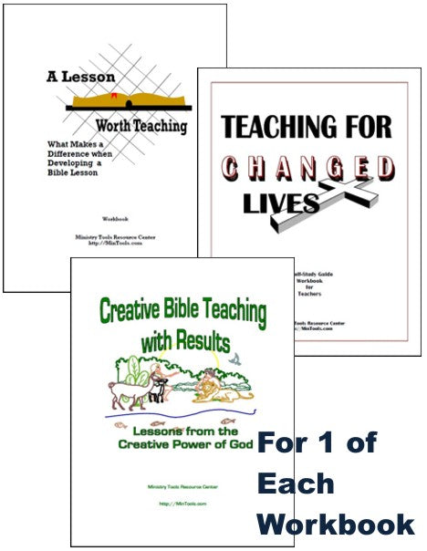 Bible Teachers Training Workbooks