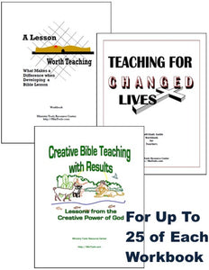Bible Teachers Training Workbooks for Teaching Team