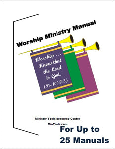 Worship Ministry Manual for Team or Leaders
