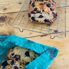 Banana and Blueberry Spelt Loaf - Your weekend baking needs all wrapped up!