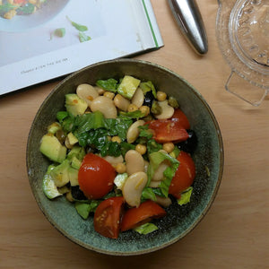 Bean and Avocado Salad, plus keeping salad fresh for a whole week!