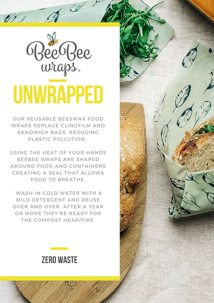 Beeswax wraps unwrapped