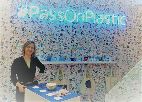 #Passonplastic Kath Austin at the Sky Ocean Rescue shop on Carnaby Street