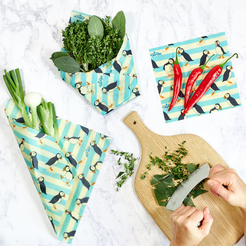 Puffin BeeBee beeswax food wraps