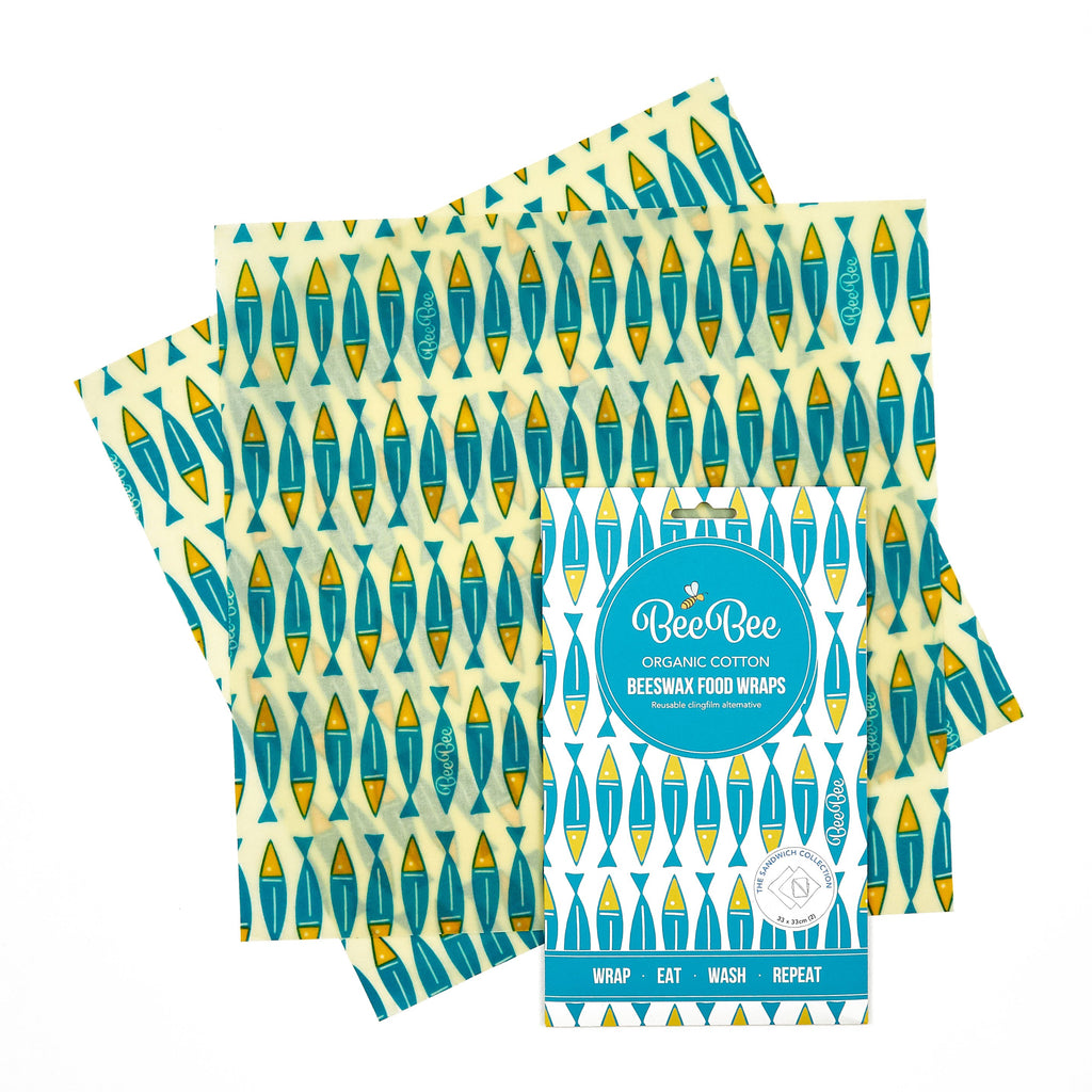 Sardines sandwich pack beeswax wraps