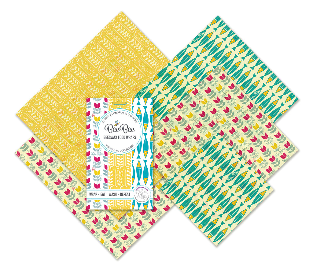The family collection beeswax wraps sardines tulip wheat