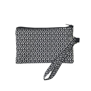 Black Triangle Wristlet Clutch