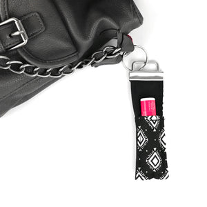 Black Aztec Lip Balm Key Fob