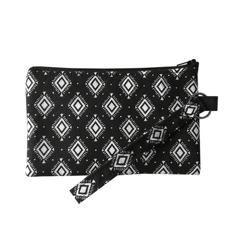 Black Aztec Wristlet Clutch