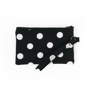 Black Polka Dot Wristlet Clutch