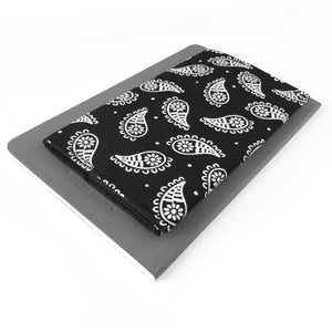 Black Paisley Checkbook Cover