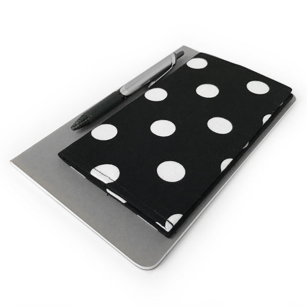 Black Polka Dot Checkbook Cover
