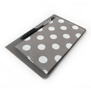 Gray Polka Dot Checkbook Cover
