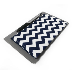 Navy Chevron Checkbook Cover
