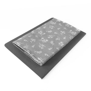 Gray Floral Checkbook Cover
