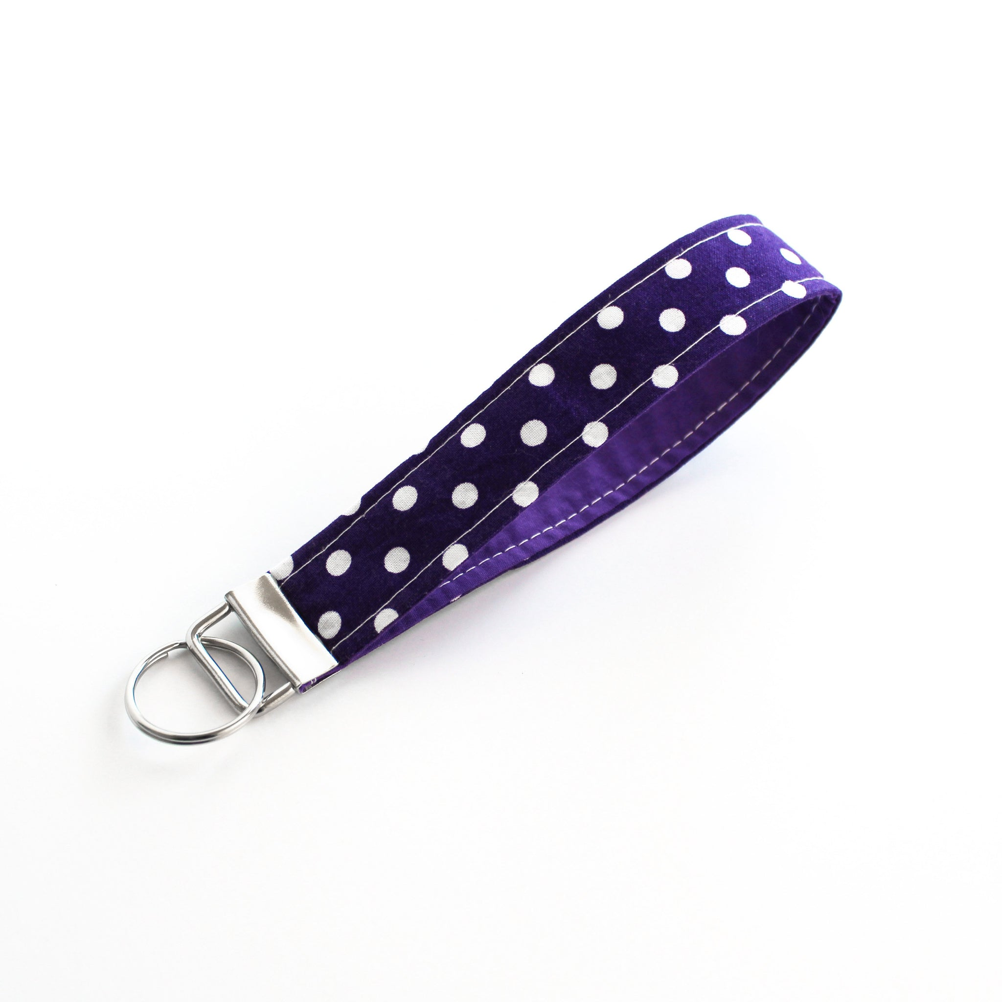 Purple Polka Dot Key Fob
