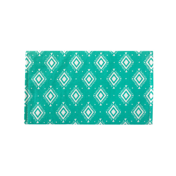 Turquoise Aztec Checkbook Cover