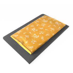 Yellow Floral Checkbook Cover