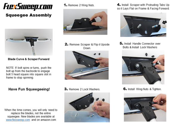 FlexSweep Squeegee Assembly Instructions