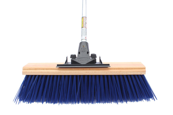 18″ Little Mama Extra Coarse Push Broom (6 Pack) - FlexSweep