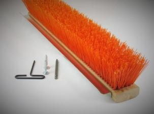 24″ Coarse Safety Orange Broom Block (4 Pack) - FlexSweep