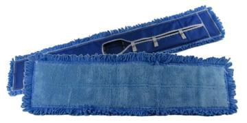 24″ Cushion Microfiber Fringed Dust Mop Heads (6 Pack) - FlexSweep