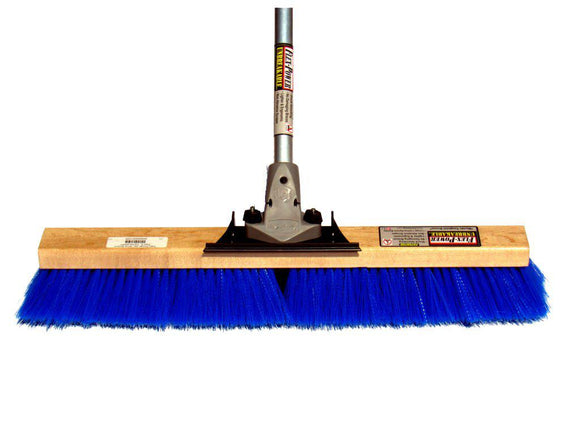24″ Wire Center with Medium Bristle Push Broom (6 Pack) - FlexSweep
