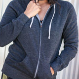 Mom Life Zip Up Hoodie in Black/Silver with Gold Glitter 1108 Boutique