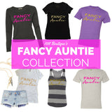 Fancy Auntie White Tank Top with Gold Glitter 1108 Boutique