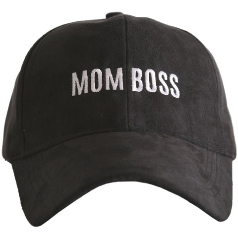 Mom Boss Embroidered Baseball Hat - Mom Style Mom Fashion