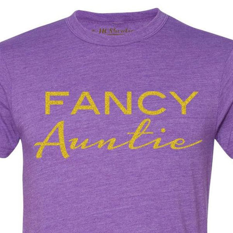 Fancy Auntie Tri-blend Purple Tee 1108 Boutique