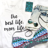 Mom Life Unisex Tank Top in White with Gold Glitter or Black 1108 Boutique
