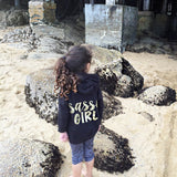 Sassy Girl Toddler to Youth Black Hoodie Sweatshirt with Gold Glitter 1108 Boutique