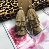 Isabel Camel Tassel Fringe Earrings 1108 Boutique