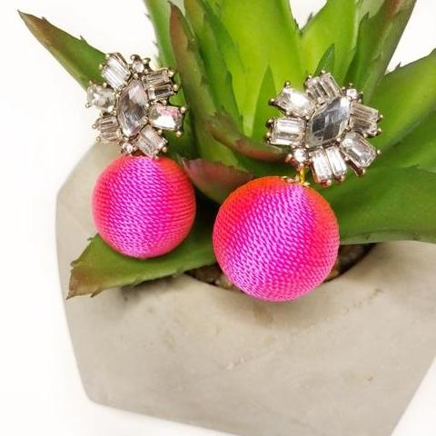 Vivianne Pink Drop Earrings 1108 Boutique