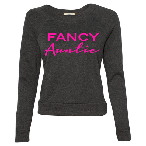 Fancy Auntie Raglan Sweater - Hot Pink 1108 Boutique