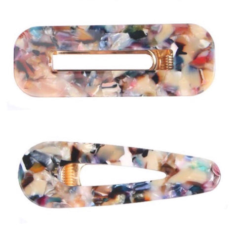 Ibiza Resin Hair Clip Set of Two 1108 Boutique