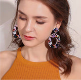 Lelani Resin Drop Earrings - Multi Color 1108 Boutique