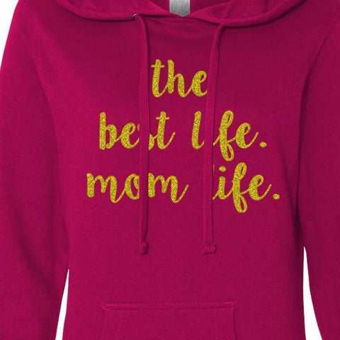 Mom Life Lightweight Pullover Hoodie in Pink 1108 Boutique
