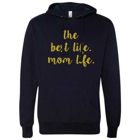 Mom Life Hoodie in Navy Blue Unisex Sizing 1108 Boutique