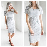 Palm Tree Print Dress 1108 Boutique