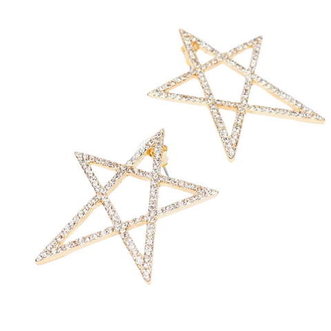 She's A Star Gold Earrings