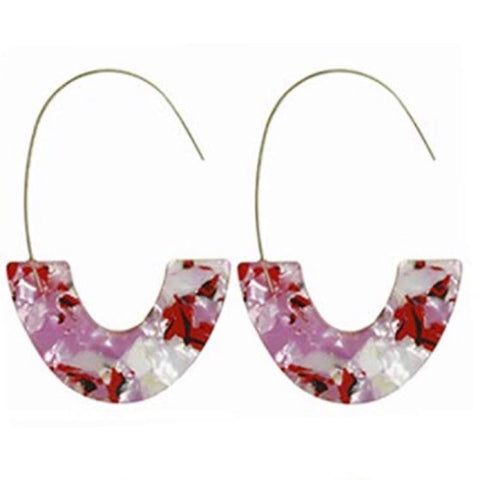 Siena Resin Drop Threader Hoops 1108 Boutique